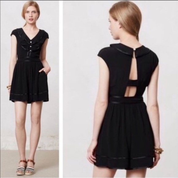 Anthropologie Dresses & Skirts - Anthropologie Black Lexa Romper, Size 0